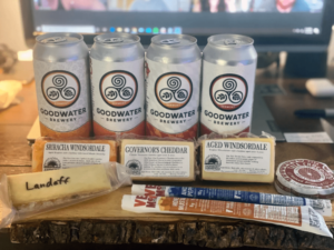 Delicious Beer and Cheese ready for the online pairing experience